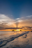 Zonsondergang op fort myers beach — Stockfoto