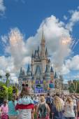 Vuurwerk in het magic kingdom — Stockfoto