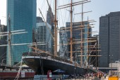 The famous Pecking docked at South Street Sea Port — Stock fotografie