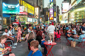 The busy streets of Times Square — Stock Photo