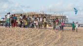 Tarde de segunda-feira na praia de Obama, Cotonou — Fotografia Stock