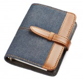Jeans notebook — Stock Photo