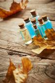 Spa still life with autumn leaves — Stock Photo