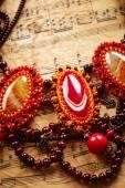 Belo colar feito à mão — Fotografia Stock