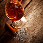 Vintage cognac still life — Stock Photo