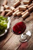 静物年份的红酒 — 图库照片