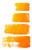 Strokes of orange paint — Stock fotografie