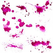 Blots of purple paint — Stock Photo