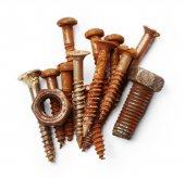 Rusty Screws collection — Stock Photo