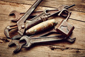 Old tools collection — Stock Photo