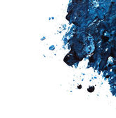 Blå nagellack och ögonskugga — Stockfoto
