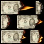 Burning dollars — Stock Photo #72619979