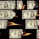 Burning dollars — Stock Photo #72620025