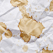 Paper with blots of coffee — Stock Photo