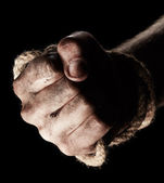 Male hand with rope. Conception aggression — Fotografia Stock