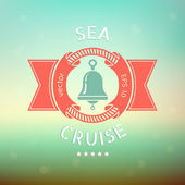 Sea cruise banner — Stock Vector