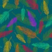 Color feathers pattern — Stok Vektör