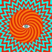 Hypnotische poster — Stockvektor