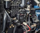 Close up diesel generator station — Stock Photo