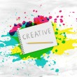 Writing pad with the word creative — Fotografia Stock  #76838491
