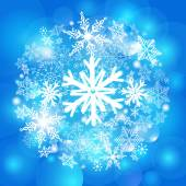 发光的雪花 — 图库矢量图片