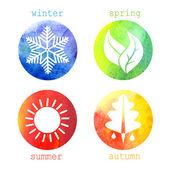 Vector illustration of seasons — Stock Vector