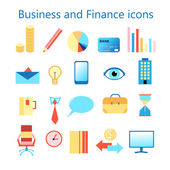 Vector icons set for business and finance web application — ストックベクタ