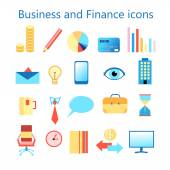 Vector icons set for business and finance web application — Stock Vector