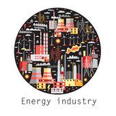 Industry background — Stock Vector