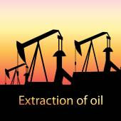 Illustration of oil production — Stock Vector