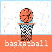 Poster basketboll — Stock Vector