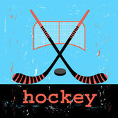 Poster for hockey — Stock Vector