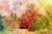 Retro autumn landscape — Stockfoto
