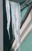 Photo Beautiful icicles — Stock Photo
