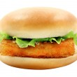 Photo Burger with fish fillets — Stock Photo #70529361