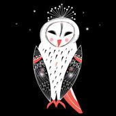 Graphic owl — Stock Vector