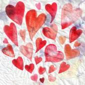 Watercolor holiday heart — Stock Photo