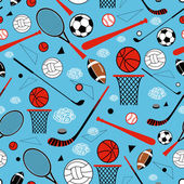 Pattern of sporting goods — Stock Vector