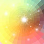 Abstract colorful background with sun — Stock Vector