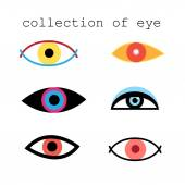 Collection of eye signs — Stock Vector