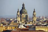 Budapest skyline with St. Stephen's Basilica, Hungary — Stock Photo