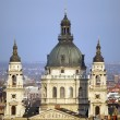 Budapest view Hungary with the Saint Stephen Basilica in the middle — Stock Photo #62180969