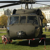 VIENNA - OCTOBER 28: Helicopter demonstration on the celebration of Austrian National Day on October 28, 2013 in Vienna, Austria — Stockfoto
