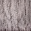 Detail of crocheted gray texture from a sweater made of wool — Stock Photo #62875687