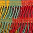 Red, yellow , green, colorful plaid wool texture, background — Stock Photo #63368977