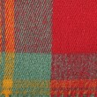 Red, yellow , green, colorful plaid wool texture, background — Stock Photo #63369441
