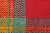 Red, yellow , green, colorful plaid wool texture, background — Stock Photo