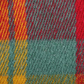 Red, yellow , green, colorful plaid wool texture, background — Photo