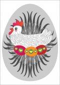 Pisanka i kurczaka — Wektor stockowy