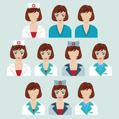 Set of medical characters. — Stock Vector